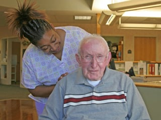 You can use your own money, get help from your state, or use long-term care insurance to pay for nursing home costs. (© iStockphoto.com/Andrew Gentry)