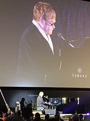 Elton John performing after the screening of The Union. (©Dan Meade)