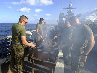 Even the U.S. Navy gets in on the grilling fun! (U.S. Navy photo by Mass Communication Specialist 1st Class Richard Doolin / Released)