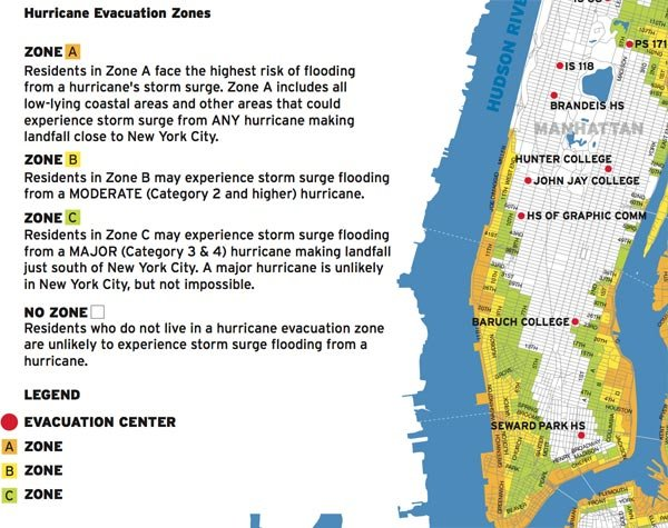 The map of NYC's evacuation zones