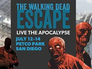 To celebrate The Walking Dead #100, San Diego's Petco Park will be turned into a zombie infested evacuation zone. (©PRNewsFoto/The Walking Dead Escape: San Diego)